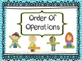 Order of Operations! 3.OA.7
