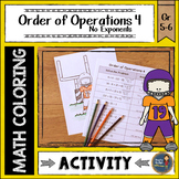 Order of Operations 4 Coloring with Math