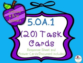 Order of Operations (5.OA.1) Task Cards