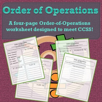 Order of Operations - 5.OA.1 & 5.OA.2 (Fifth-Grade Common Core)