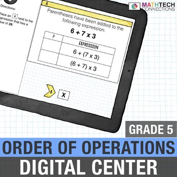Order of Operations - 5th Grade Digital Resource for use with Google Classroom™
