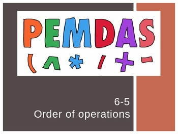 Order of Operations (5th Grade EnVision Math) Power Point