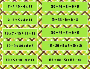 Order of Operations (5th - no exponents)