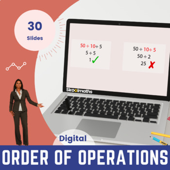 Order of Operations - 6th grade - 8th grade, (UK year 7-9, key stage 3)