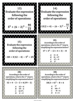 Order of Operations: Activity Bundle