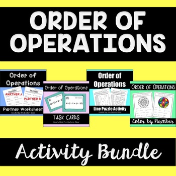 Order of Operations - Activity Bundle