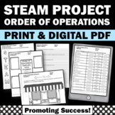 Order of Operations Unit Math Stem Project Based Learning STEAM Challenge