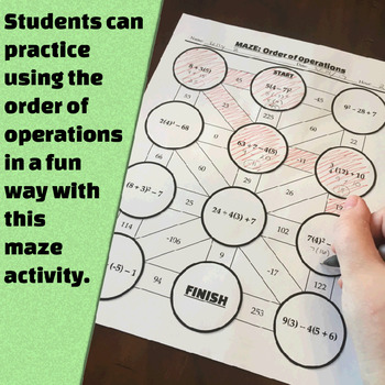 Order of Operations - All-in-One Bundle - Notes, Worksheets, Quiz, and more!