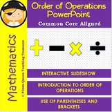 Order of Operations: A PowerPoint Introduction for 5th Grade