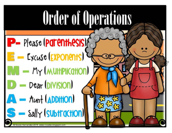 Order of Operations PEMDAS - Poster and Student Bookmark