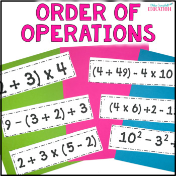 Differentiated Order of Operations - Around the Room