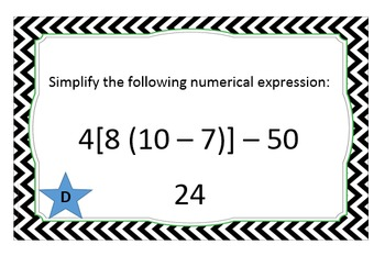 Order of Operations - Around the World Task Cards