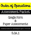 Order of Operations Assessment Pack