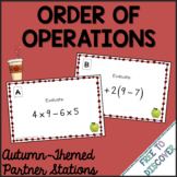Order of Operations - Autumn (Back to School) Theme