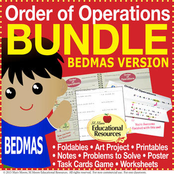 Order of Operations - BEDMAS - BUNDLE of Engaging Lessons, Tasks, & MORE