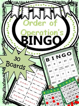 BINGO* Order of Operations {30 BOARDS} (NO PREP)