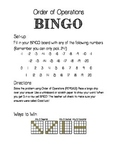 Order of Operations BINGO Bundle