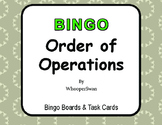 Order of Operations - BINGO and Task Cards
