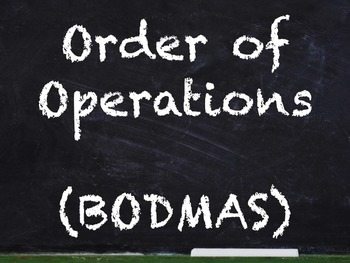 Order of Operations BODMAS