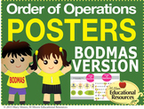 "Order of Operations - BODMAS - 2 MATH POSTERS - 24"" x 36"""