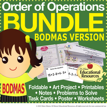 Order of Operations - BODMAS - BUNDLE of Engaging Lessons,