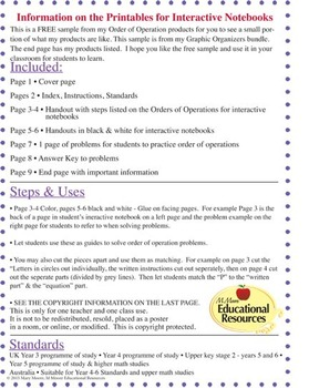 FREE! Order of Operations - BODMAS - Printable & More!