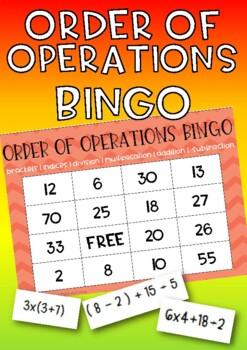 Order of Operations (BODMAS, PEDMAS) Bingo