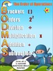 Order of Operations Poster - Ideal for Math Walls and the Back of Bathroom Doors