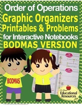 Order of Operations - BODMAS - Interactive Notebook, Graphic Organizers, & More