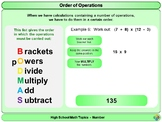 Order of Operations (BODMAS) for High School Math
