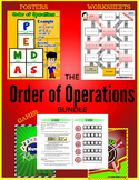 Order of Operations BUNDLE (Games, Activities, Posters & Worksheets)