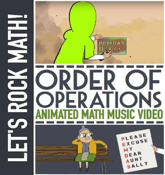 ORDER OF OPERATIONS Game with PEMDAS Worksheets | Lesson Plan | Video | & Song