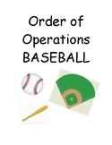 Order of Operations Baseball