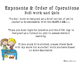 Order of Operations Bell Work (MAFS.6.EE.1.1)