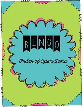 Order of Operations - Bingo