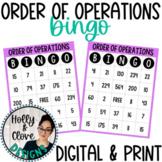 Order of Operations Bingo - Digital & Print Versions - NO PREP Game