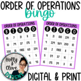 Order of Operations Bingo - Digital & Print Versions - NO PREP Game
