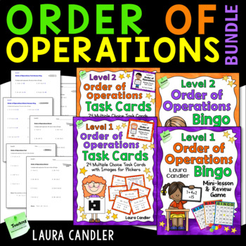 Order of Operations Games and Tests Bundle