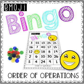 Order of Operations Bingo - Emoji Style
