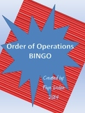 Order of Operations Bingo Game