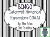 Order of Operations Bingo Game PowerPoint with Blank Bingo Cards 5.OA.A.1