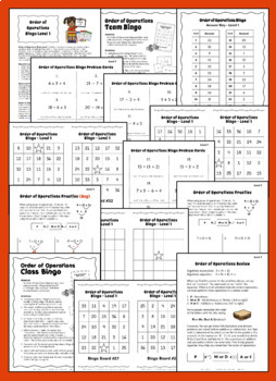 Order of Operations Game | Math Bingo | Level 1
