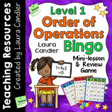 Order of Operations Game and Worksheet - Level 1