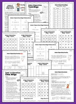 Order of Operations Game | Math Bingo | Level 2