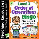 Order of Operations Game and Worksheet - Level 2