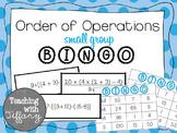 Order of Operations Small Group Bingo. TEKS 5.4F CCSS 5.OA.1 (No Exponants)