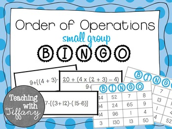 Order of Operations Small Group Bingo. TEKS 5.4F CCSS 5.OA.1 (No Exponants)