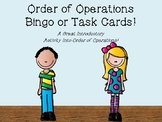 Order of Operations Bingo or Task Cards!