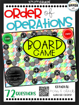 Order of Operations Board Game - with Exponents, Fractions