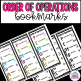 Order of Operations Math Bookmark